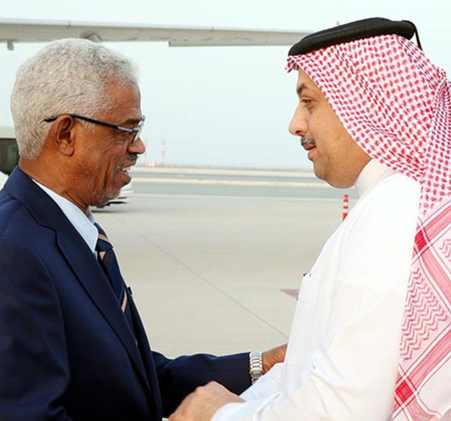 Qatar's Defense Minister Receives Sudanese Counterpart
