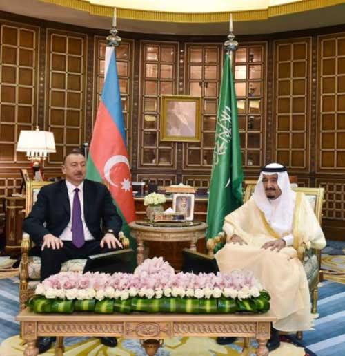 King Salman with Azerbijan's President Ilham Aliyev