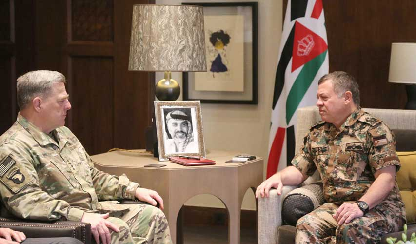 Jordan's King Receives US Army Chief of Staff
