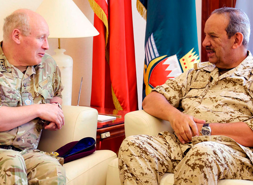 Bahrain's Defense Chief Receives Chief of British Operations