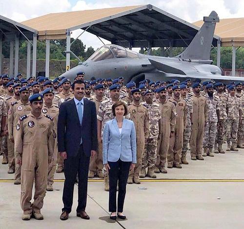 Qatar's Emir Visits Rafale Squadron in France