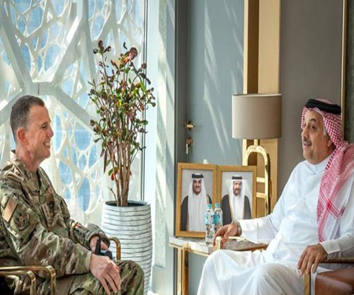 Qatar's Minister of Defense Affairs Meets Commander of US Air Forces Central Command