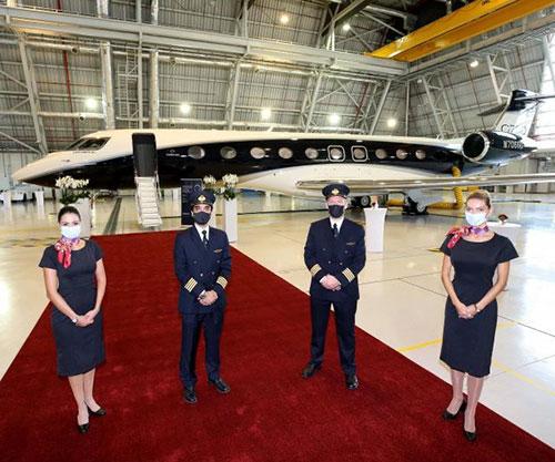 Qatar Airways Unveils Gulfstream G700 over Qatar's Skies