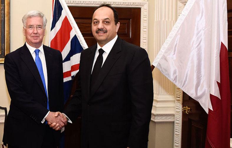 Qatar's Defense Minister Meets British Counterpart