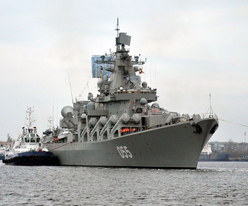 Russian Missile Cruiser Marshal Ustinov Makes Call at Port of Algiers