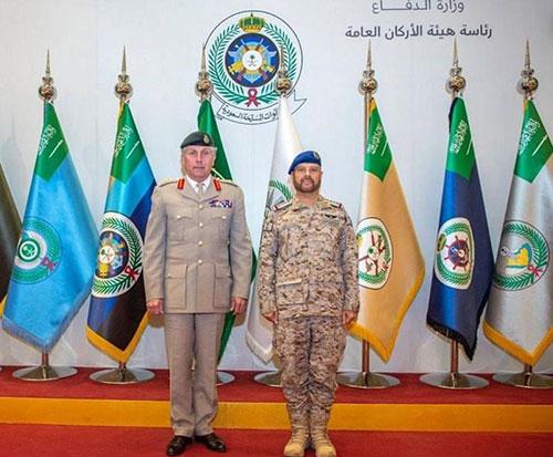 Saudi Chief of General Staff Decorates Chief of UK Defense Staff