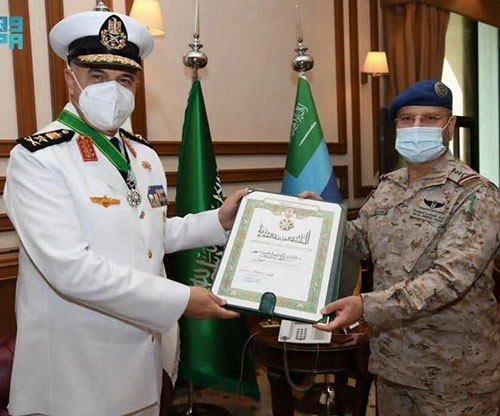 Saudi Chief of General Staff Receives Egyptian Navy Commander
