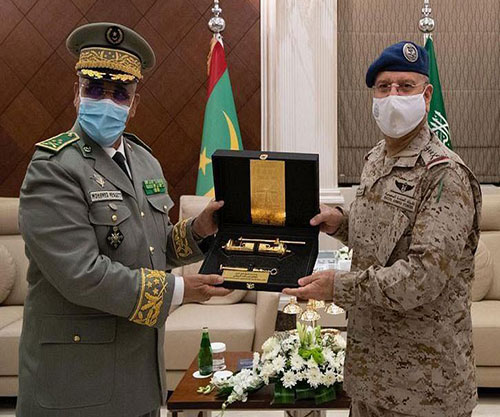 Saudi Chief of General Staff Receives Mauritanian Counterpart