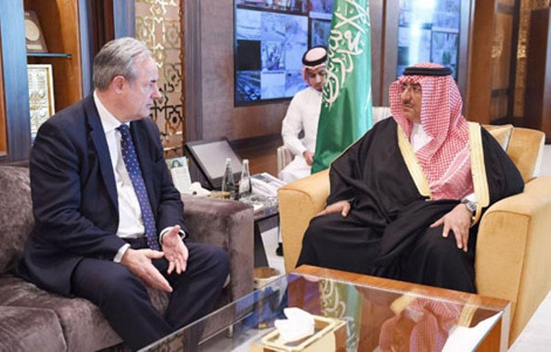 Saudi Crown Prince Receives British Parliament Defense Head