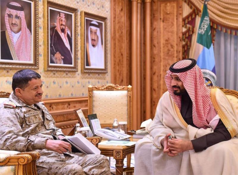 Saudi Defense Minister Meets Yemen's Chief of Staff