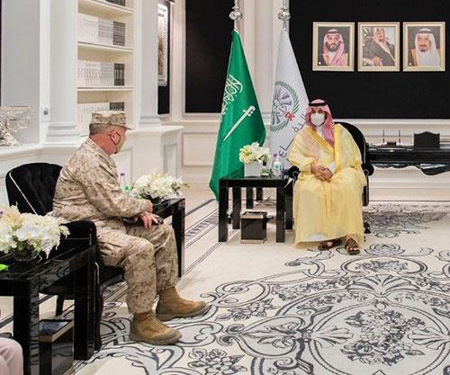 Saudi Deputy Minister of Defense Meets Commander of U.S. Central Command