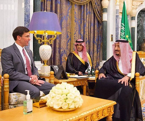 Saudi King, Defense Minister Receive US Defense Secretary