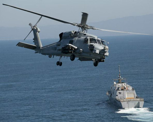 Saudi Navy Launches First MH-60R Helicopter in USA