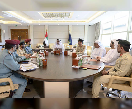 UAE Interior Minister Reviews Plans for 'Arab Gulf Security 2' Exercise