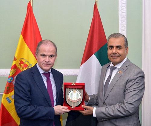 UAE National Defense College Delegation Visits Spain