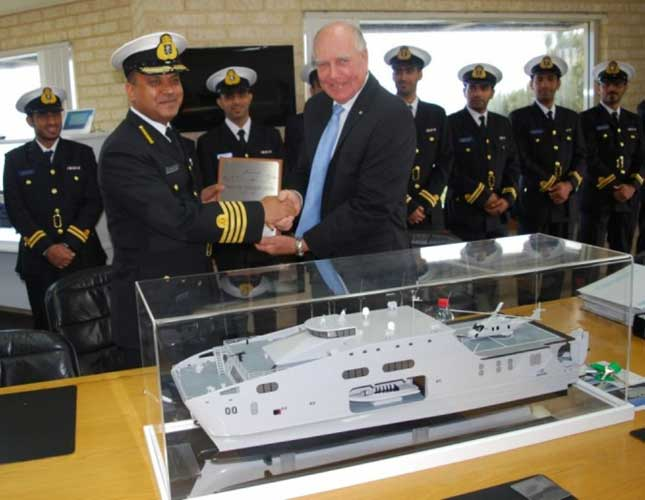 Austal Delivers Second High Speed Support Vessel to Oman