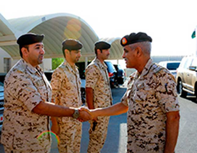 Bahrain's Chief of Staff Pays Inspection Visit to Unit