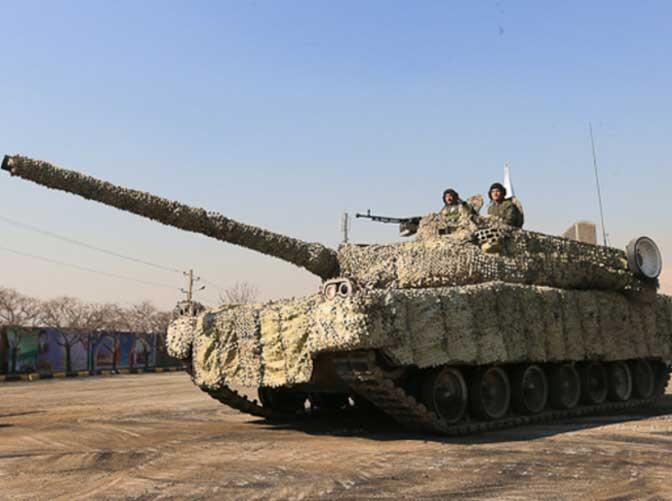 Iran Tests Active Protection System on Zolfaqar Tanks