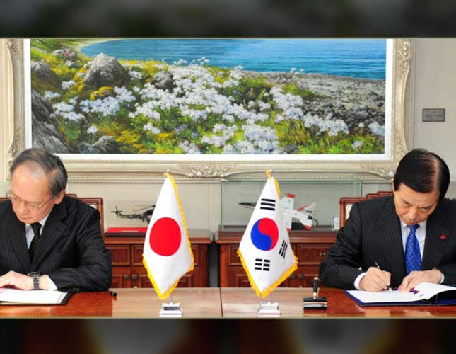 Japan, South Korea Sign Military Intelligence Pact