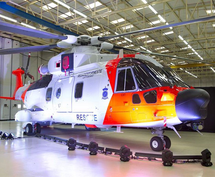 Unveiling of first Norwegian AW101 SAR