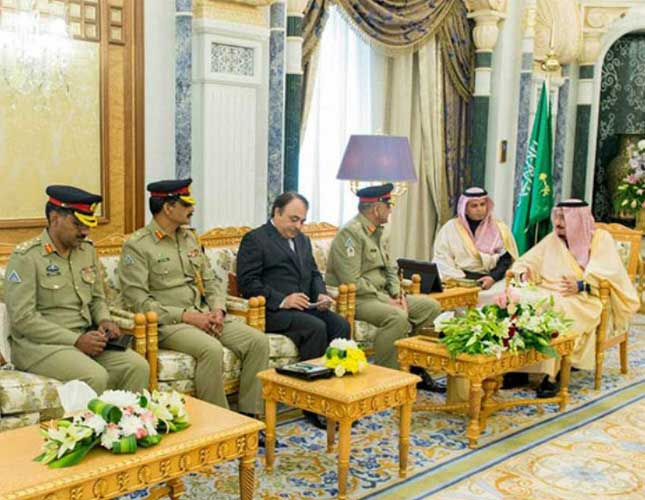 Saudi King Receives Chief of Pakistani Army
