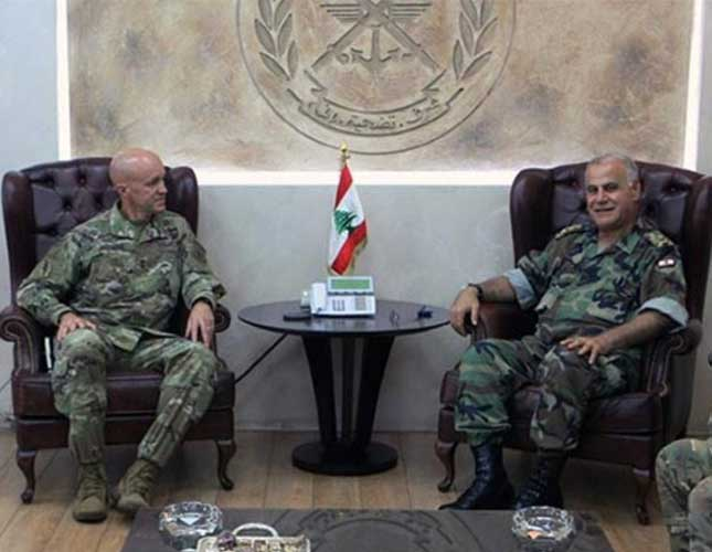 Lebanon Army Commander Meets US Military Official