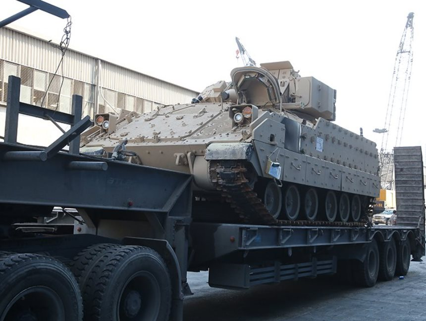 Lebanon Receives Final Batch of M2A2 Bradley Fighting Vehicles