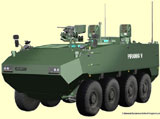 GD to Offer PIRANHA 5 with Rheinmetall's LANCE
