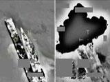 Libyan Frigate Hit by RAF Jets