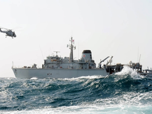 HMS Middleton, HMS Pembroke Return from Gulf