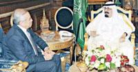 Saudi King Holds Talks with Lebanese President