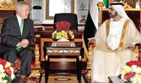 Sheikh Mohammed Receives US Secretary of Navy