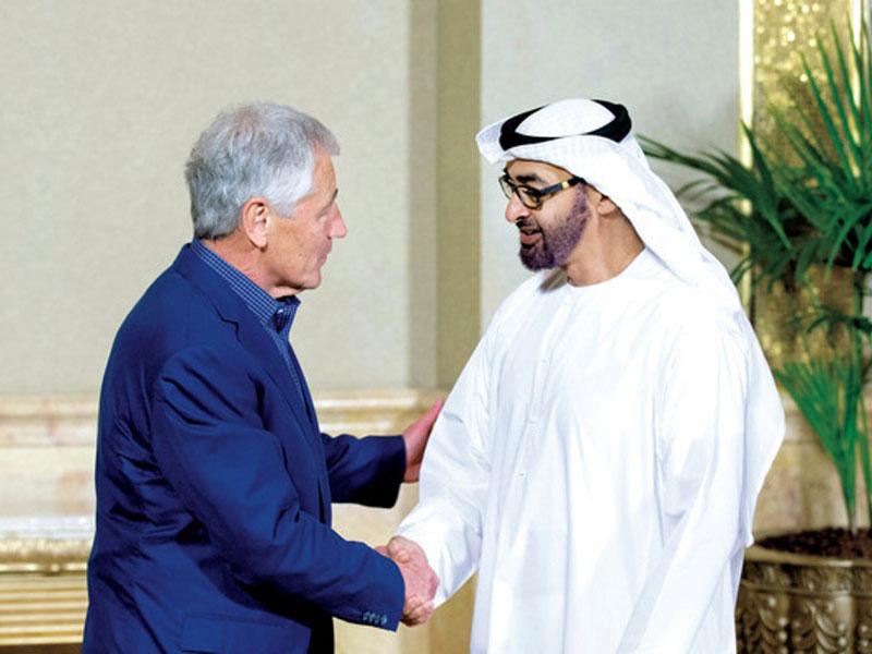 Mohamed bin Zayed Receives US Defense Secretary