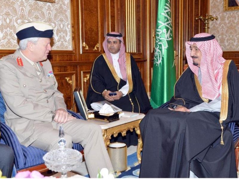 Prince Salman Meets Britain's Middle East Defence Adviser