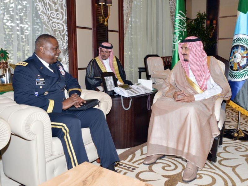 Saudi Defense Minister Receives U.S. Central Command Chief