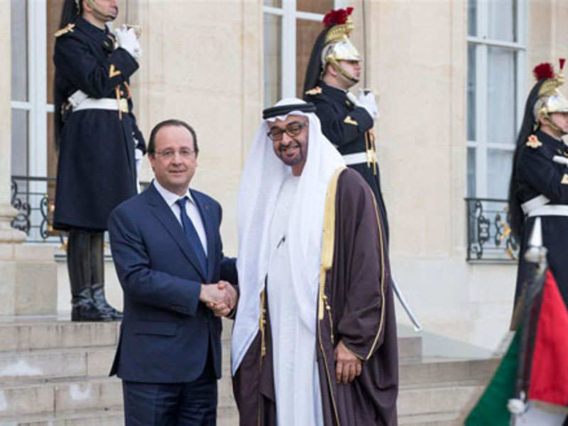 UAE Crown Prince Meets French President, Defense Minister