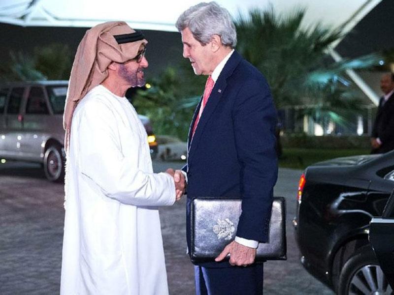 UAE Deputy Supreme Commander Receives John Kerry