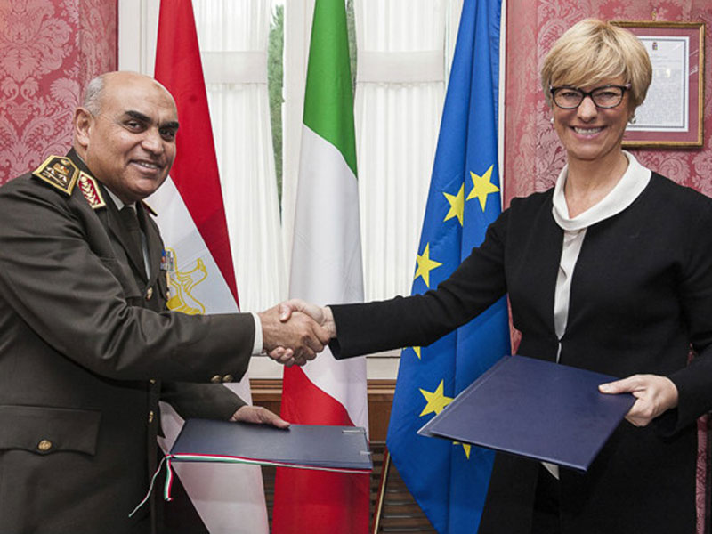 Italy, Egypt Agree to Boost Military Cooperation