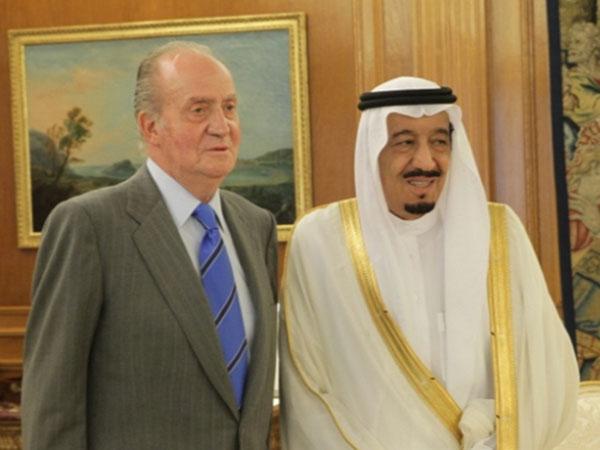 Saudi Crown Prince Meets Spanish King & Defense Minister