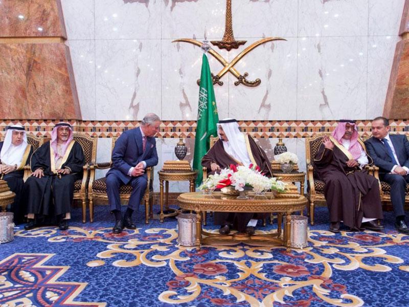 Saudi King Receives UK's Crown Prince Charles