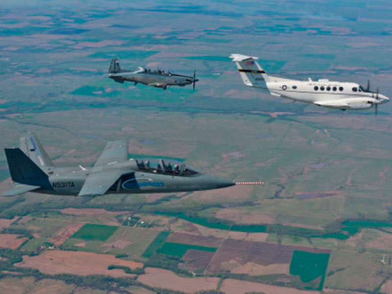 USAF Students Test Textron's Scorpion & Beechcraft AT-6
