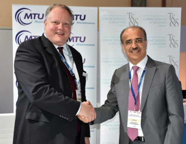 (Left to Right): Frank Haberkamp, Vice President - Repair Services, MTU Maintenance; Abdul Khaliq Saeed, CEO, TS&S