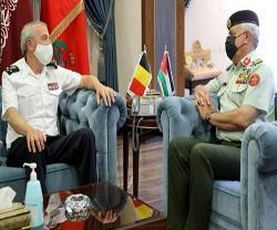 Jordanian, Belgian Army Chiefs Discuss Military Cooperation