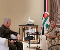 Jordanian King Receives US CENTCOM Commander