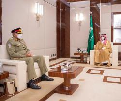 Saudi Crown Prince, Deputy Defense Minister Receive Pakistan's Chief of Army Staff