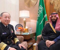 Saudi Defense Minister Receives Japanese Chief-of-Staff