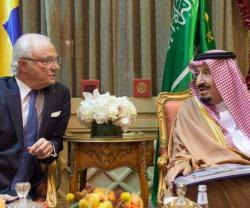 Saudi King Receives King of Sweden