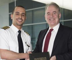 Emirati Etihad Pilot Youngest Holder of PhD in Aviation