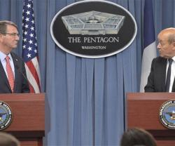 US, French Defense Ministers Review Military Cooperation