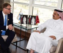 Qatar's Defense Minister Meets Finland's Prime Minister